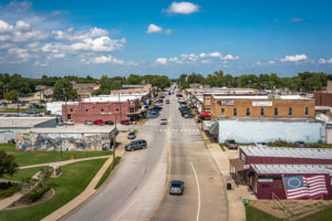 An Arial view of downtown wylie