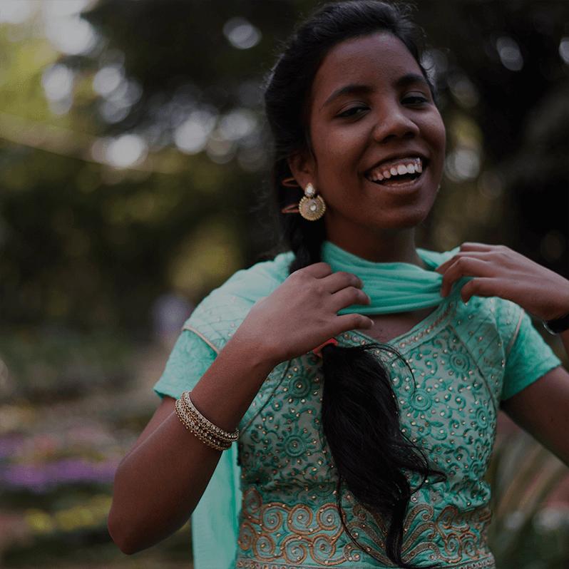 An Indian in her punjabi