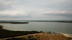 Lake Lavon; wide shot of the lake.